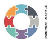 pie chart consists of eight... | Shutterstock .eps vector #285845231
