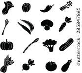 vegetable  icon set . | Shutterstock . vector #285847865