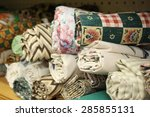 Small Rolls Of Colorful Fabric...