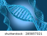 dna molecules on the beatiful... | Shutterstock . vector #285857321