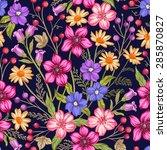 beautiful seamless floral... | Shutterstock .eps vector #285870827