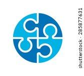 social relationship logo and... | Shutterstock .eps vector #285877631