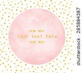 Pink Watercolor Circle Paper...