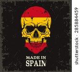 skull color of the flag | Shutterstock .eps vector #285884459