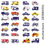 illustration set of emergency... | Shutterstock .eps vector #285884501