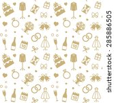 vector seamless pattern with... | Shutterstock .eps vector #285886505