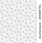 seamless snowflake pattern.... | Shutterstock .eps vector #285889781