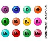 set vitamins icon. isolated on...