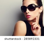 Elegant Chic Female Model In...