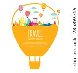 travel and tourism concept... | Shutterstock .eps vector #285896759