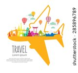 travel and tourism concept... | Shutterstock .eps vector #285896789