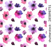 Seamless Gentle Floral Pattern...