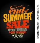 end of summer sale design ... | Shutterstock .eps vector #285900371