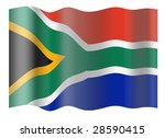 flag of rsa. illustration over... | Shutterstock . vector #28590415
