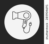 hair dryer line icon | Shutterstock .eps vector #285904691