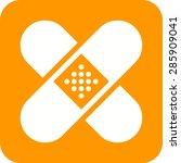 band  aid  medical  bandage... | Shutterstock .eps vector #285909041
