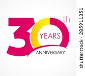 30 th anniversary numbers. 30s... | Shutterstock .eps vector #285911351