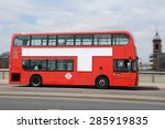 panning shot of red double... | Shutterstock . vector #285919835