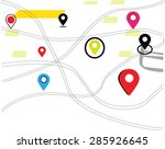 map and navigation map  | Shutterstock .eps vector #285926645
