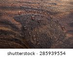 Water Drop In Burn Wooden...