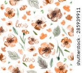 pattern color flowers... | Shutterstock . vector #285939911