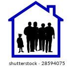 family silhouette   Shutterstock . vector #28594075