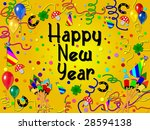 happy new year background  ... | Shutterstock . vector #28594138