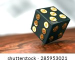 rolling game dice with dollar... | Shutterstock . vector #285953021