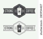 set of vintage coffee logos ...   Shutterstock .eps vector #285954407