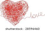 red heart with love | Shutterstock . vector #28596460