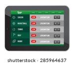 digitally generated sports... | Shutterstock .eps vector #285964637