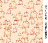 cauldron pattern background | Shutterstock .eps vector #285974351