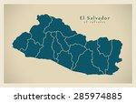 modern map   el salvador with... | Shutterstock .eps vector #285974885