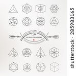 sacred geometry. alchemy ... | Shutterstock .eps vector #285983165