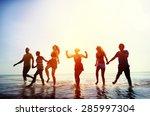 friendship freedom beach summer ... | Shutterstock . vector #285997304