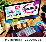 online communication internet...   Shutterstock . vector #286000391