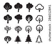 set of vector tree | Shutterstock .eps vector #286012841