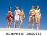 portrait of five people... | Shutterstock . vector #28601863