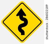 winding road sign | Shutterstock .eps vector #286022189