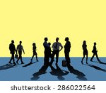 business people team connection ... | Shutterstock . vector #286022564