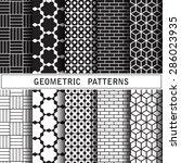 geometric vector pattern...   Shutterstock .eps vector #286023935