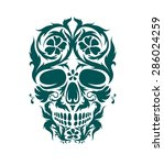 the ornamental art of a skull ... | Shutterstock .eps vector #286024259
