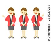 female salesclerk wearing... | Shutterstock .eps vector #286027289