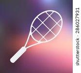 racket icon.  | Shutterstock .eps vector #286027931