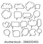 vector collection of hand drawn ... | Shutterstock .eps vector #286032401