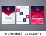 template. vector brochure... | Shutterstock .eps vector #286033841