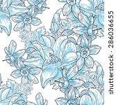 spring garden collection.... | Shutterstock .eps vector #286036655