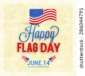 flag day badge background | Shutterstock .eps vector #286044791