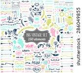 big set of vintage elements.... | Shutterstock .eps vector #286049855