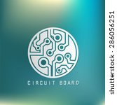 circuit board sign icon.... | Shutterstock .eps vector #286056251